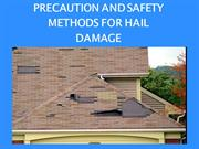 Precaution and Safety methods for Hail Damage