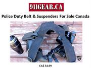 Police Duty Belt & Suspenders For Sale Canada