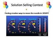 Solution Selling Contest