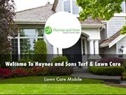 Haynes and Sons Turf & Lawn Care Presentations
