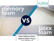 How is Memory Foam Mattress Better Than a Latex Mattress?