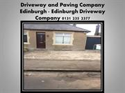 Edinburgh Driveway and Paving Company