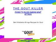 Foods To Avoid During Gout Attack