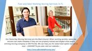 If You Need For Commercial Movers. Call Us Now
