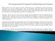 The Importance Of Instagram For Marketing Your Company