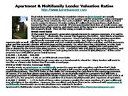 Apartment & Multifamily Lender Valuation