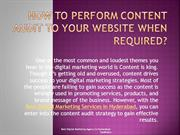 Why you should Perform Content Audit & Develop Your Website?