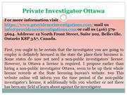 Private investigator Ottawa