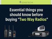 Essential things you should know before buying Two Way Radios
