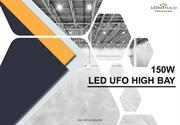 150W LED UFO High Bay / 5700K / Warehouse Lighting 20,098 Lumens