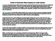 Points to Remember When Buying Car Audio