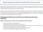 What If Reckon Is Unable To Send Email To Your Account