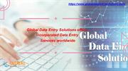Get Online Data Entry Services- Global Data Entry Solution