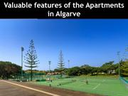Valuable features of the Apartments in Algarve