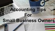 Accounting Tips for Small Business Owners