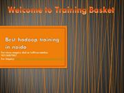 Best hadoop training in noida