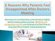 6 Reasons Why Patient Feels Disappointed After Doctor's Meeting