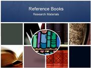 Reference Books: Resource Materials