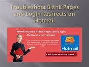 Troubleshoot Blank Pages and Login Redirects on Hotmail