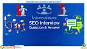 Top 30+ SEO interview questions and answers for better interview perfo