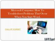 How To Troubleshoot Problems That Occur When You Start Word
