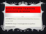 Best Python Training Institute in Noida | python training in noida
