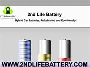 Get High-Quality Reconditioned Hybrid Car Batteries – 2nd Life Battery