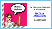 Top 4 Marketing Challenges & its Solutions