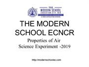The Modern School ECNCR  'Properties of Air' science experiment -2019