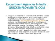 Best Recruitment agencies in india