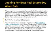 Looking For Best Real Estate Buy When Sale
