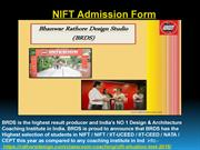 NIFT Admission Form