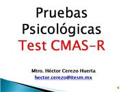 Pruebas Psicolgicas: Test CMAS-R