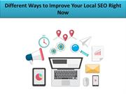 Different Ways to Improve Your Local SEO Right Now