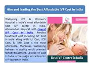 Hire and leading the Best Affordable IVF Cost in India