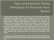 Tips and hints For Using Instagram To Promote Your Brand