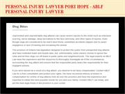 Personal Injury Lawyer Port Hope