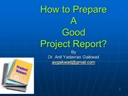 How to Prepare A  Project Report - AYG - Upload