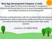 Best App Development Company in India