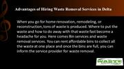 Advantages of Hiring Waste Removal Services in Delta