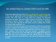 How to obtain PAN card for NRI's