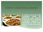 Event caterers sussex - Food Glorious Food South