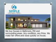 Sell my house fast Baltimore md | Simple Homesbuyers