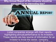 Workplace Compliance Services - Why Annual Report of the company shoul