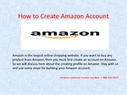 How to Create Amazon Account with step by step Procedure