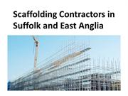 Scaffolding Contractors in Suffolk and East Anglia