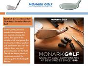 CUSTOM BUILT GOLF COST AT MONARK GOLF SUPPLY INC