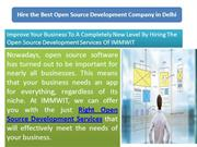 Hire the Best Open Source Development Company in Delhi