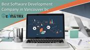 Best software development company in vancouver bc