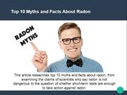 Top 10 Myths and Facts About Radon